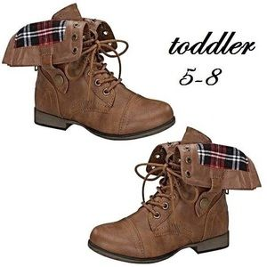 Brown toddler booties